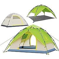 GAZELLE OUTDOORS 3 persone, impermeabile, 50 POP-UP, tenda da spiaggia protezione solare UPF-Tenda familiare da campeggio, gazebo Canopy-Zaino da campeggio/Hiking