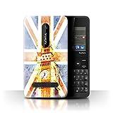 Stuff4 Phone Case for Nokia Asha 210 Great Britain/British