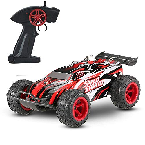 Rabing Remote Control Car, Unlimited terrain Rc car, 2.4Ghz High Speed Radio Remote Control Racing Cars 1/22 Off-Road Rock Vehicle, Red