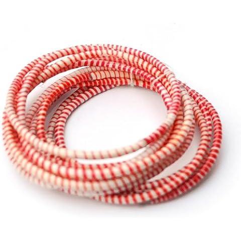 Fantastik - Pulsera plástico de colores flip color : roja