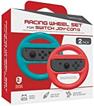 Hyperkin Racing Wheel Set for Nintendo Switch Joy-Con (Blue/Red, Pack of 2)