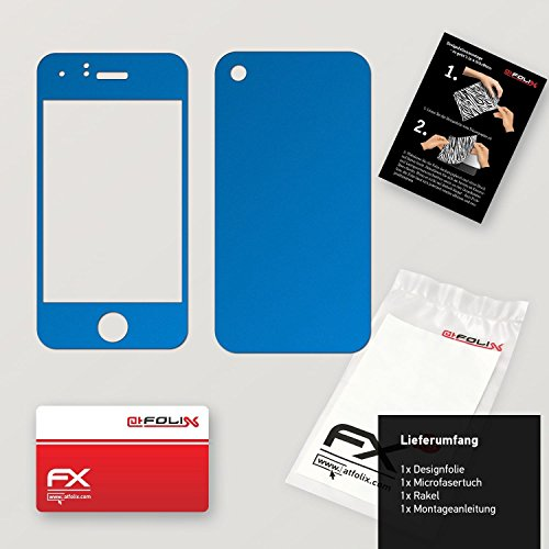 "Skin Apple iPhone 3Gs ""FX-Variochrome-Pearl"" Designfolie Sticker FX-Chrome-Soft-Blue"