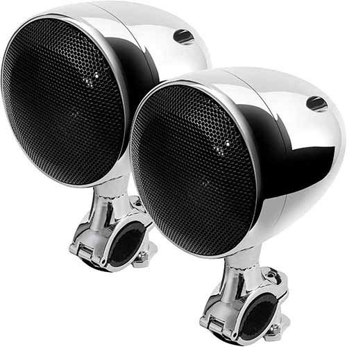 Motorrad Bluetooth Lautsprecher Wetterfest Motorrad ATV Sound System Stereo Lautsprecher Audio Verstärker System 300W Eingebauter Class D Chrom Verstärker -