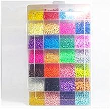 Juguetes para bebés de bolas de bricolaje Perler 12000 PC Box Set de 5 mm Perlas de fusibles Hama Beads (plantilla + 5 Papel Hierro + 2 pinzas) Puzzle de bricolaje Juguetes para bebés Teether