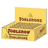 Toblerone Milk Chocolate Bar 100g (Packung mit 20 x 100g) Schweizer Milchschokolade mit Honig- und Mandel-Torrone (10%)