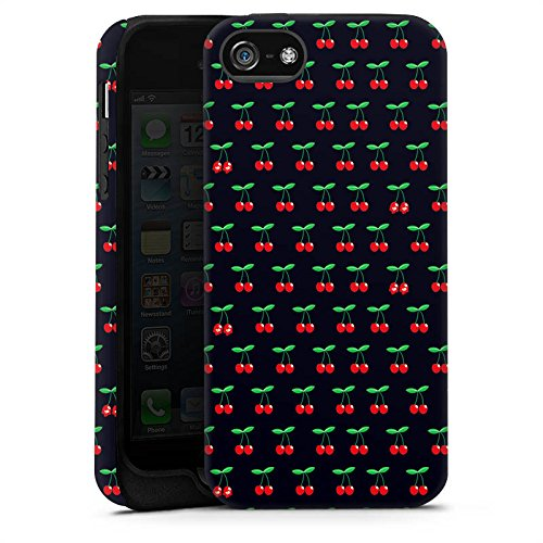 Apple iPhone X Silikon Hülle Case Schutzhülle Cherry Kirschen Pattern Tough Case matt