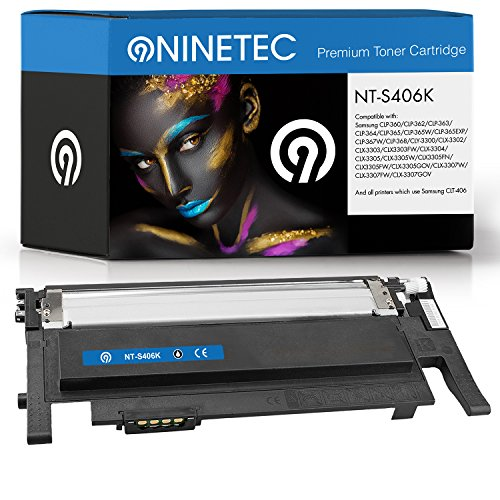 Preisvergleich Produktbild Original NINETEC NT-S406K Toner-Kartusche Black kompatibel zu Samsung CLT-K406