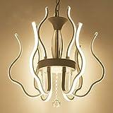 CLLCR Haushalts-Leuchter, Kristallpalast-Deckenleuchte, Schmiedeeisen-Wandlampe Führte Postmodern-Eisen-Aluminiumacryl-geführte Lampe geführte helle hängende Lichter Pendelleuchte führte Pendelleucht