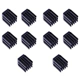 MagiDeal 10x Caldaie Di Calore Conducente Del Motore Stepper Dissipatori Di Raffreddamento Per Tmc2100 Nero