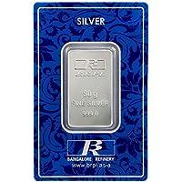 Bangalore Refinery 999 Purity Silver Bar 50 Gram