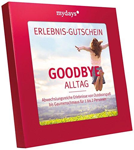 Erlebnis-Gutschein | mydays | GOODBYE ALLTAG | 55 Erlebnisse, 420 Orte | Inklusive Geschenkbox