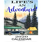 Life's An Adventure 2020 Calendar: Weekly Monthly Jan 1, 2020 to Dec 31, 2020 | Watercolor Camper Forest Landscapes… 3