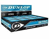 "3x Dunlop Squash Balls ""Intro"" blue"