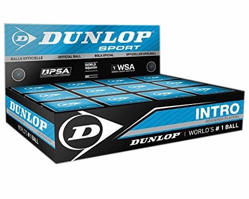 3x Dunlop Squash Balls 'Intro' blue
