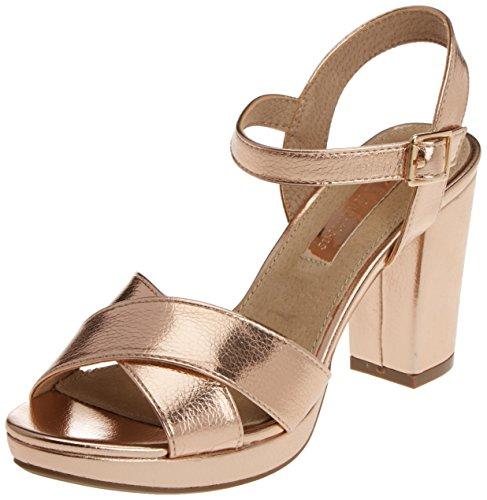 XTI Metallic Damen Sandalen mit Absatz Gold (Nude)