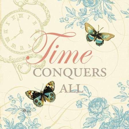 Time Flies II par Pela Studio -Imprimé beaux-arts sur toile - Petit (18 x 18 cms)
