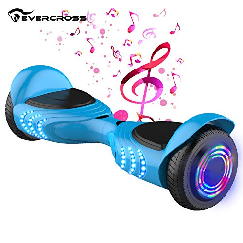 Patinete Electrico Autoequilibrio Flash Rueda con Altavoz Bluetooth y Luces LED, Smart Scooter Balance Board Patinete Eléctrico Monopatín Model Q2