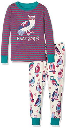Hatley Pj (App) -Happy Owls, Pijama para Niños, Morado, 6 Años
