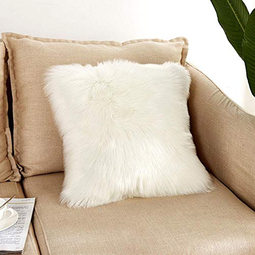 45 x 45 cm Kissenbezug Luxus Home Dekorativ Superweich Plüsch Fellimitat Kunstfell Kissenhülle, Ohne Kissen Inneren -