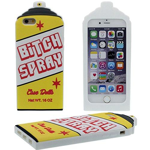 3D Silikon Gel Bitch Spray Flasche Modellieren iPhone 6 Hülle Case ( Pink ) Weich, Handy Tasche Cover für Apple iPhone 6S 4.7 Zoll Anti-Shock Schutzhülle Prämie Cyan