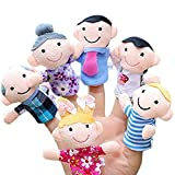 #6: Fancydresswale Mini Grandparents, Mom & Dad, Brother & Sister Family Style Finger Puppets for Children, Shows, Playtime, Schools - 6 Piece