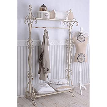 nostalgie garderobe shabby chic garderobenst nder weiss metallst nder k che haushalt. Black Bedroom Furniture Sets. Home Design Ideas