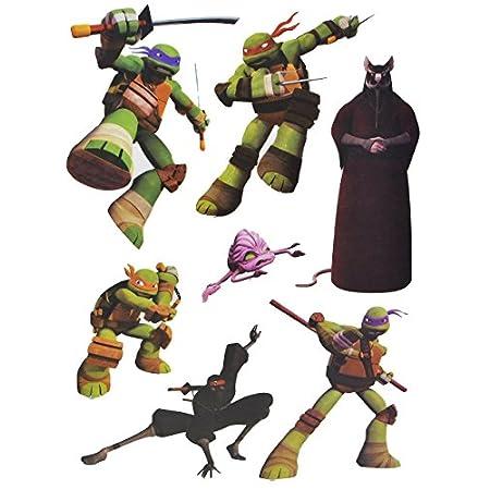 Unbekannt 7 TLG. Set Fensterbilder – Teenage Mutant Ninja Hero Turtles – Sticker Fenstersticker Aufkleber – selbstklebend + wiederverwendbar – Fensterbild / z.B. für Fe..
