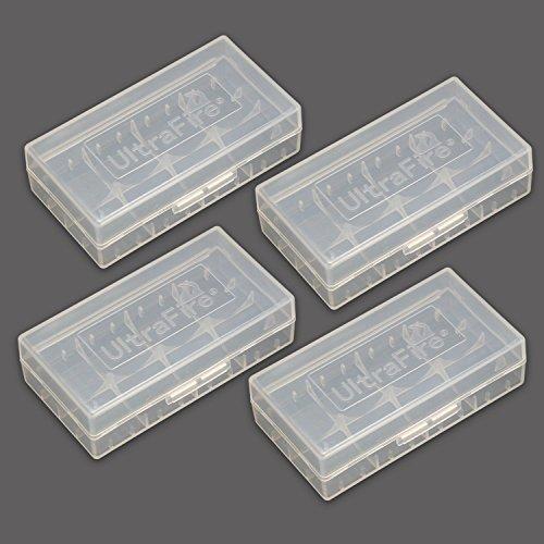 Galleria fotografica UltraFire Scatola Batteria Custodia Batteria Box Porta Batterie Per Pile Ricaricabili 18650 / 16340 / CR123A Plastica Dura Trasparente Custodia Batteria Portatile (4 Pezzi)