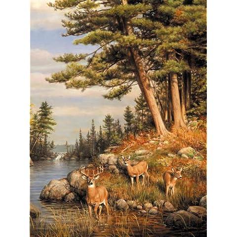 Buffalo Games Hautman Brothers, Deer & Pines - 1000pc Jigsaw Puzzle by Buffalo Games
