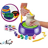 Negi Battery Operated Imaginative Arts Pottery Wheel Game for Kids, Game and Learn Educational Toy