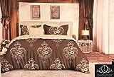 LAZZARO Lazzo Bettwäsche-Set, einfache und schöne Muster, pflegeleicht, bügelfrei, Doppelbett, Baumwollmischung, Multi, King Size