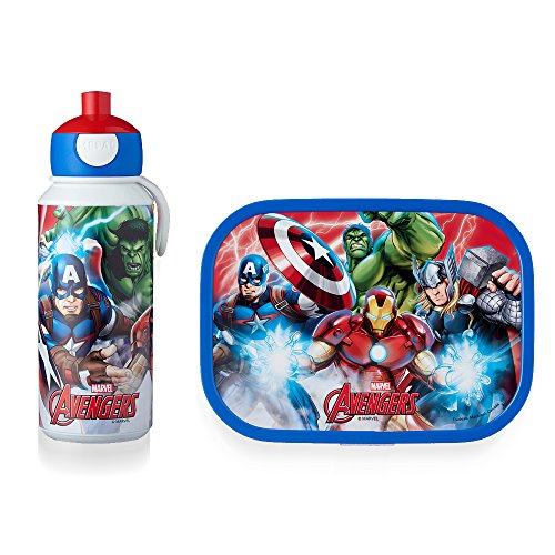 MEPAL Pop-up Trinkflasche und Brotdose lunchset-Campus-pubd-Avengers, abs, 0 mm, 2
