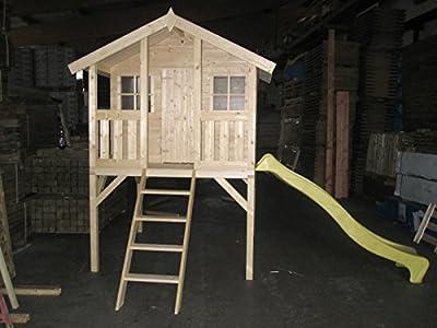 Kinderspielhaus TOBI Kinderhaus Spielanlage Gartenhaus inkl. Rutsche