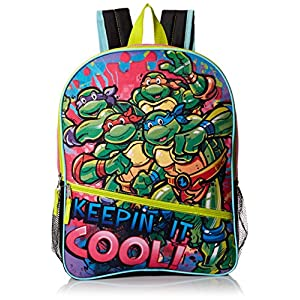 51JT8TLyLgL. SS300  - Teenage Mutant Ninja Turtles Keepin It Cool Mochila de 16 Pulgadas, TMNT-BP-121-R1-PROD, TMNT-BP-121-R1-PROD