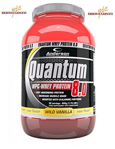 QUANTUM 8.0 Proteine del siero del latte W.P.C. CONCENTRATE 800g. GUSTO NEW CIOCCOLATO FUDGE