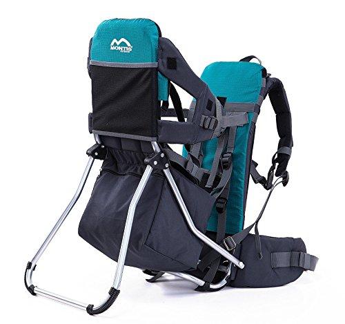 MONTIS Runner One - Porte-bébés Dorsal - jusqu'à 25kg - Plusieurs Coloris (Turquoise) M MONTIS OUTDOOR