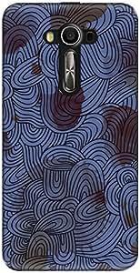 The Racoon Grip printed designer hard back mobile phone case cover for Asus Zenfone 3 Laser Ze 520Kl. (Blue loopy)