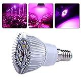 Pflanze Wachsen Licht, Hydroponik Voll Spektrum Lampe E14 18W 18 LED SMD 5730
