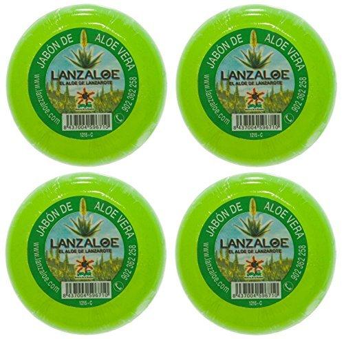 Lanzaloe jaboncillos de aloe vera 100gr pack 4uds