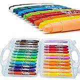 Delmkin Textilmalstifte 24 Farben Textilmalstifte Set