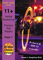 11+ Verbal Reasoning Test Papers: Multiple Choice Version
