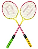 #6: NANO BADMINTON RACKET DOUBLE SHAFT PAIR WITH COVER FOR KIDS PLAY