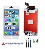 Display für iPhone 6s Bildschirm Ersatzdisplay LCD-Display Touchscreen Glas Digitizer Ersatz Reparatur Tools für iPhone 6S (Weiss)