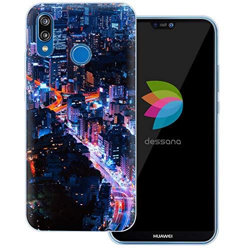 dessana Tokio Japan Transparente Schutzhülle Handy Case Cover Tasche für Huawei P20 Lite Downtown Tokyo
