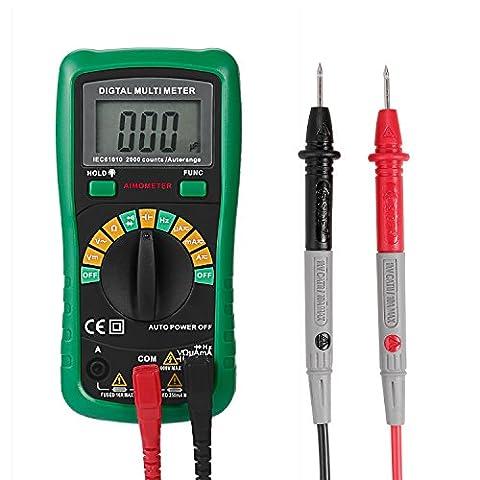 U-Kiss Auto Gamme Multimètre Numérique, écran LCD 8.9cm, La Fréquence de Température Capacitance Test D'arrêt Automatique Indicateur de Basse Tension Avec