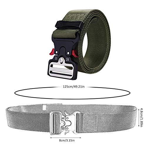 haodene Militärischer Taktischer Gürtel Nylon Gurtband Hüftgurt Heavy-Duty Metallschnalle Mit Schnellverschluss Mit V-Ring Gurtband Gürtel