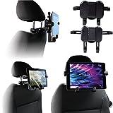 Navitech tragbar In Auto Kopfstütze / Rücksitz Schwarz Expandable feste Griff Halterung für die MEDION LIFE Portabler DVD-Player