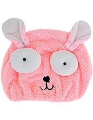 millya Mikrofaser Haar Turban Quick Dry Hat Badetuch dicker Haar trocknen Cap Wrap mit Knopf