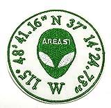 Area 51Nevada brodée Patch-X-Files type-Logo Monsters UFO Soucoupe Aliens Science Fiction Humour Comics comédie horreur Cryptids Série thermocollant patchs à coudre Emblem Ecusson Application
