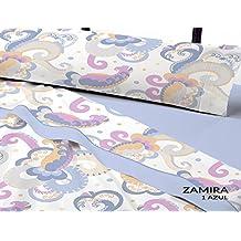 Juego sábanas coralina ZAMIRA Catotex. Cama de 135 cm. Color Azul